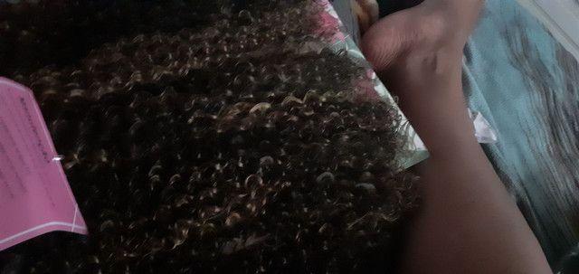 Vendo dois cabelos orgânicos bio fibra lindona cor ps4/27/30 - Foto 3
