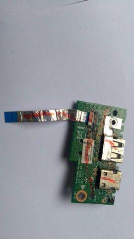 Conector Placa Dc Power Jack Usb Asus X401u - 120 - Foto 2