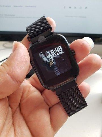 Smartwatch Colmi P8 Pulseira de Metal Preto Notificações - Foto 4