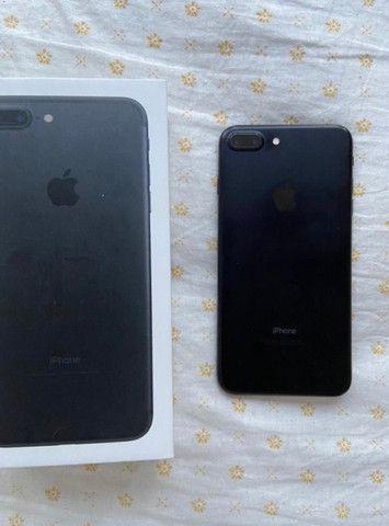 iPhone 7 Plus preto fosco raro  - Foto 3
