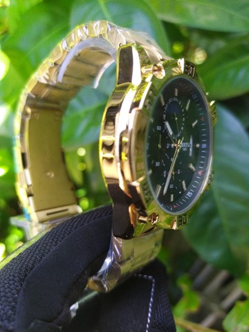 Relógio Masculino NiBOSi Dourado - Foto 3