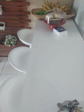 Mesa balcão de 1.50cm e 3 cadeiras bar - Foto 6
