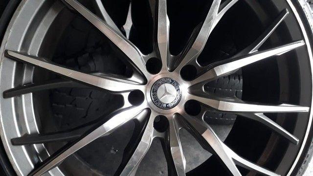 Jogo de roda e pneus praticamente zero aro 20 marca delinte  - Foto 5