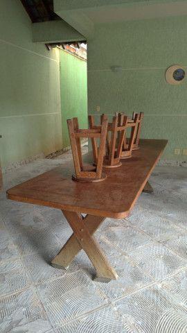 Mesa grande de madeira mogno - Foto 4