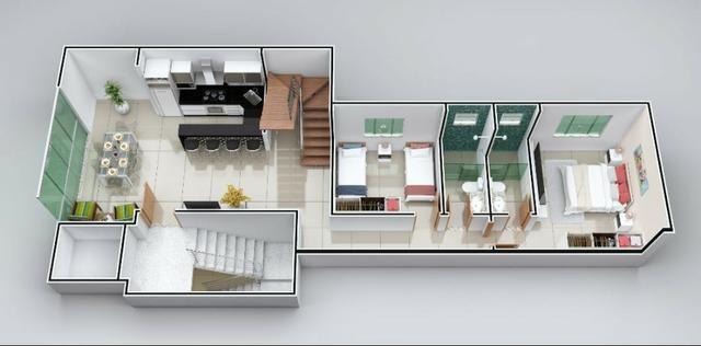 Apto Bairro Cidade Nova, 80 m², 2 qts/suite, Sac. gourmet, piso porc. 2 vgs. Valor 170 mil - Foto 3