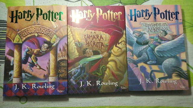 Livros Harry Potter do 1 ao 3 - Novo