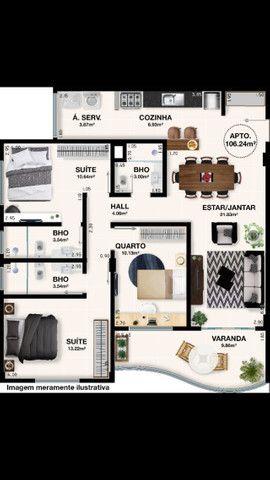 A500 - Apartamentos finos com dois e três dormitórios - Foto 2