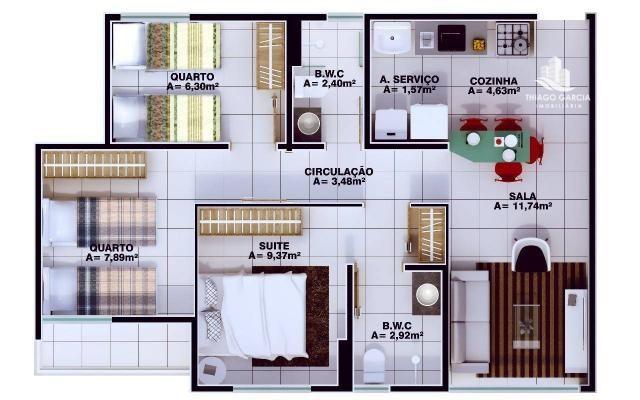 Parque das Flores - Apartamento com 2 dormitórios à venda, 50 m² por R$ 180.000 - Foto 5