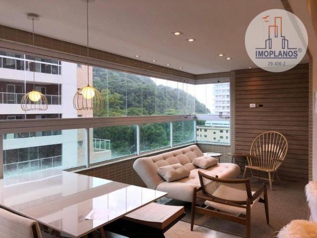 Belíssimo apartamento com 3 dormitórios à venda, 124 m² por R$ 837.585 - Canto do Forte -
