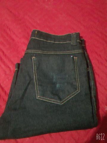 bermuda jeans masculina  semi nova so 40 reais - Foto 2