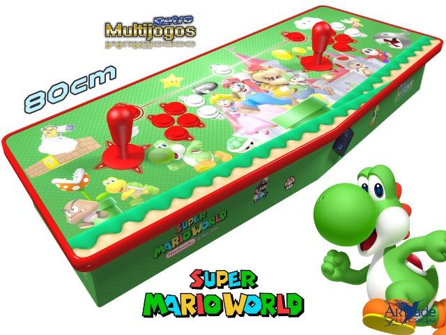 Arcade Fliperama Multijogos Retro 2 Players Tema: Super Mario World Com 7050 Jogos - Foto 2