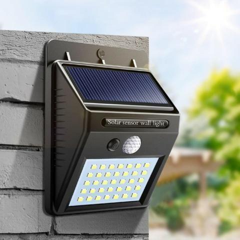 Luminária Solar com Sensor de Presença de Led - Foto 3