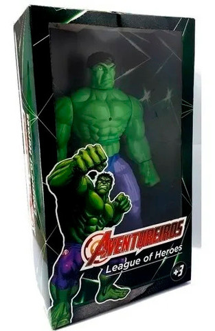 Hulk Brinquedo Boneco de 40cm c/ Luz