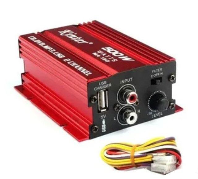 Mini Amplificador Modulo Kinter Ma-150 500w 2 Canais - Foto 4