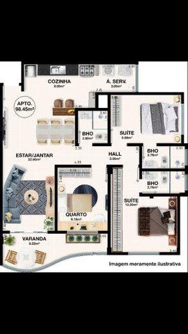 A500 - Apartamentos finos com dois e três dormitórios - Foto 4