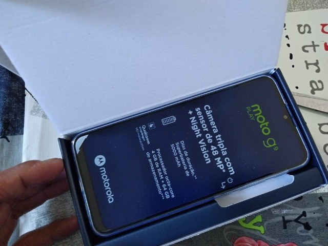 Troco Motorola G9 play 64 gb, azul safira - Foto 5