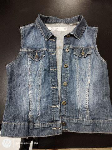 Colete jeans tem 42