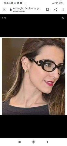 Armação óculos p/ grau baroque preto blogueiras prd +case, cor preto.