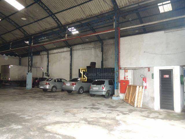 Excelente Galpão 1500m² com pé Direito 6m Escritório Entrada de Caminhão na Vila Mathias - Foto 4