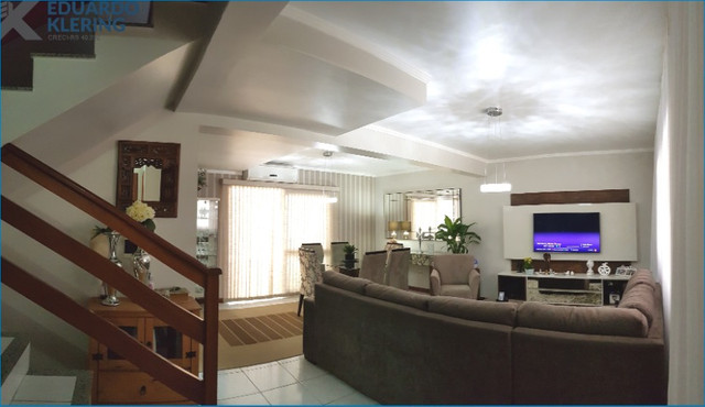 Casa em Condomínio, 3 dormitórios, suíte, 2 banheiros e lavabo, 127,40m², Sapucaia