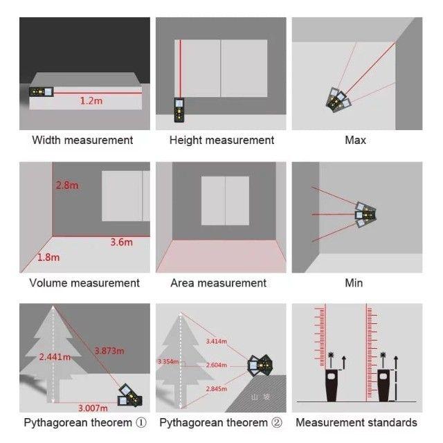 Trena a Laser 40 metros Multifunção Profissional X5 Alta Precisão R$200 - Foto 2