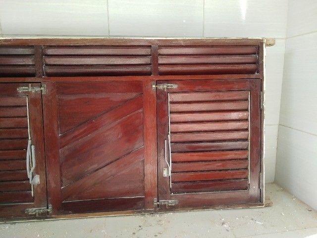 Janelão 150cm x 80cm de madeira de lei Massaranduba - Foto 2