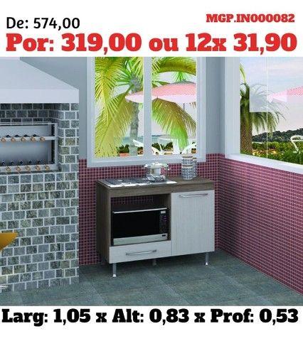 Balcão Cooktop 5 Bocas - Armario de Microondas- Balcão Fogão Cooktop - Foto 3