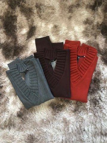 Blusões gola V - Inverno 2021 - Foto 4