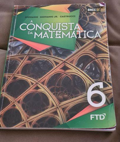 Livro di?ático A Conquista da matemática 6'