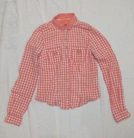 Blusa estampa geométrica laranja - Foto 2