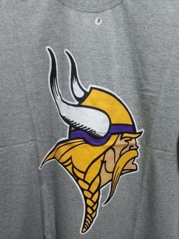 Camisa Vikings NFL Cinza Masculina - Foto 2