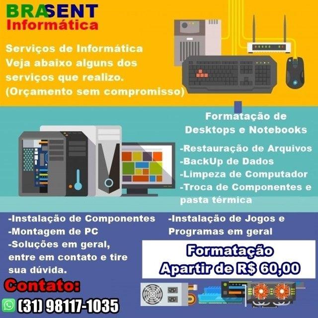 Serviços de Informática -Manutenção, Formatação, Aulas, Restauração e outros - Foto 2