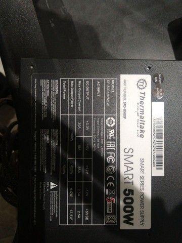 Fonte thermaltake smart series 500w 80plus white (usada)  - Foto 2