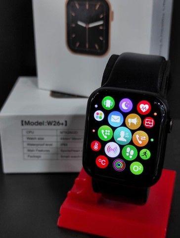 Relógio Inteligente Smartwatch Iwo w26 Plus Original Preto Rosa Top - Foto 2