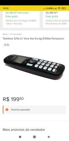 Telefone s/ fio c/ viva voz Panasonic (Troco por aparelho GSM)