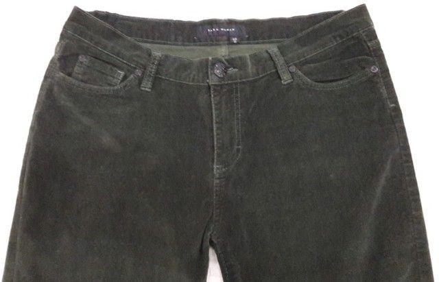 Calça Verde Militar em Veludo - Zara - Tam. 42 - Preço Imperdível! - Foto 3
