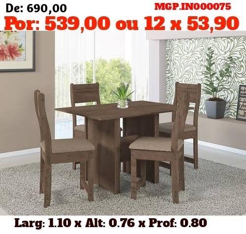 Conjunto de Mesa de 4 Cadeira- Mesa de Jantar - Liquida em MS - Foto 2