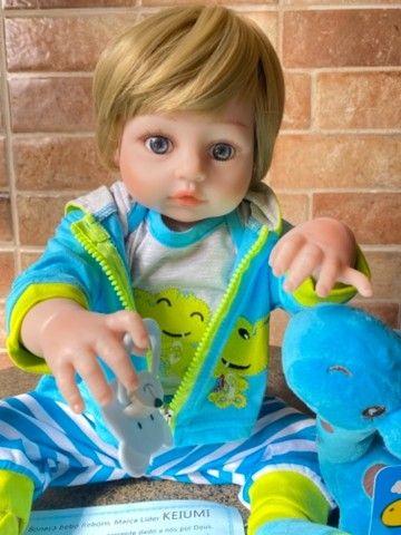 Bebê Reborn Menino todo em silicone loiro Novo (aceito cartão ) - Foto 5