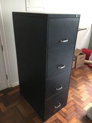 Arquivo 4 gavetas, pintado de preto. - Foto 2