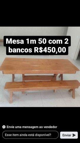 Mesas com bancos e cadeiras - Foto 3