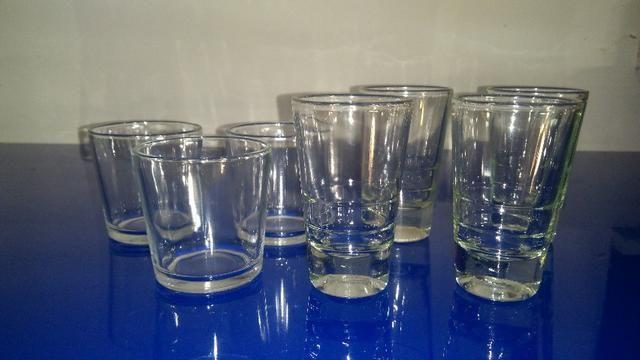 7 copos de licor de vidro