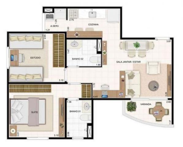 Apartamento excelente vista pra Natal - Condomínio Vita Club 55m² / Oportunidade