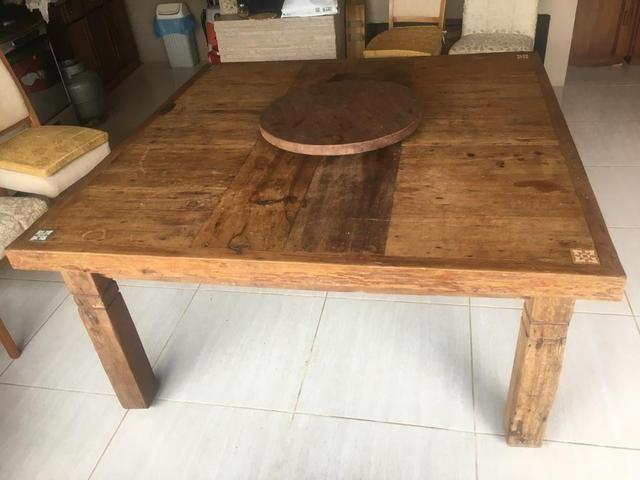 Pra levar: Mesa em Madeira Rústica_Preço IMPERDÍVEL - Foto 3