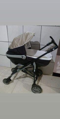 Trio carrinho , moises e bebe conforto chicco - Foto 5