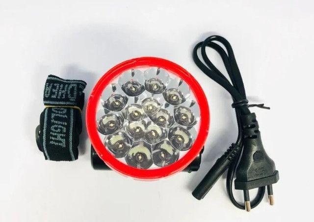 7770 - Lanterna de Cabeça Recarregável 15 Leds Super Light Gimex GX-29138-1 - Foto 4