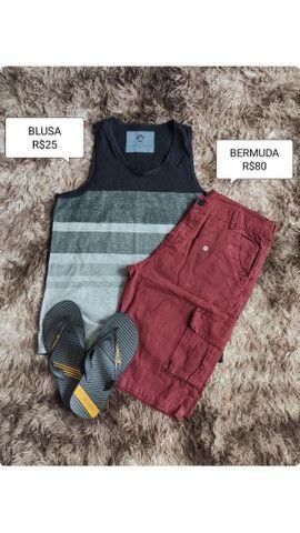 Bermudas e blusas masculinas