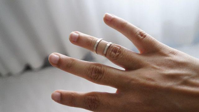 Anel meio dedo inox - Foto 2