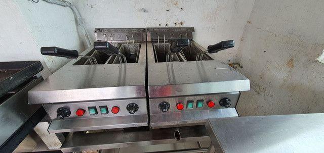 Fritadeira elétrica INOX