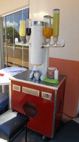 Máquina de sorvete americano com motor selado de 1 hp novinho - Foto 2