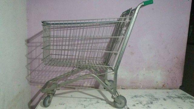 Carrinho de supermercado, conservado, usado 170,00